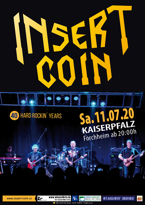 Insert Coin 40 Years of Rock: 11.07.2020 Kaiserpfalz Forchheim